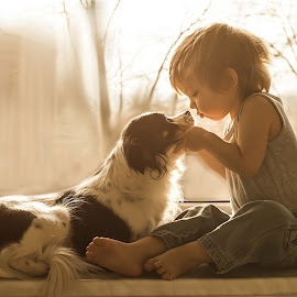 by Agnieszka Gulczyńska - Babies & Children Child Portraits ( child&dog, gulczynska, friendship, child photography, dog portrait )