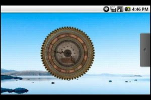 Screenshot of Steampunk Analog Clock