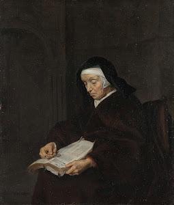 RIJKS: Gabriël Metsu: Old Woman Meditating 1663