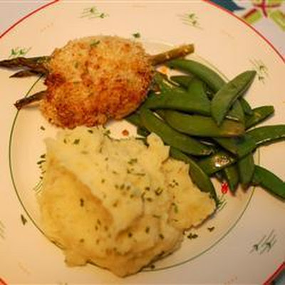 Crispy Asparagus Stuffed Chicken Breasts
