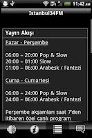 Screenshot of Istanbul34 FM