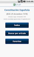 Screenshot of Constitución Española LA LEY