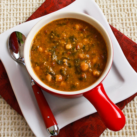 Chickpea Soup with Spinach, Tomatoes, and Basil