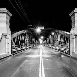 Bundy's Bridge by Right Image Photography - Buildings & Architecture Bridges & Suspended Structures ( black and white, nice, photography, amazing, d800e, wow, nikon life, night photography, 14-24, night, bridge, nikon, stunning, right image photography, i am nikon )