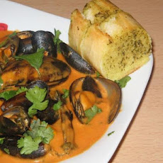 Spicy Coconut Mussels