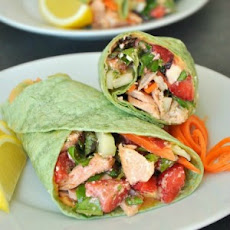 Strawberry Fields Salmon Wraps with Homemade Feta Vinaigrette