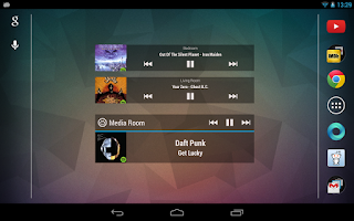 Screenshot of Sonos Widget