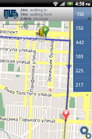 Screenshot of BUS.kg - Bishkek Route Finder
