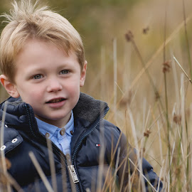 In the Moorland by Dominic Lemoine Photography - Babies & Children Child Portraits ( elan valley, moorland, grass, wales, bokeh, boy )