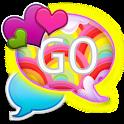 GO SMS - Hearts N Rainbows icon