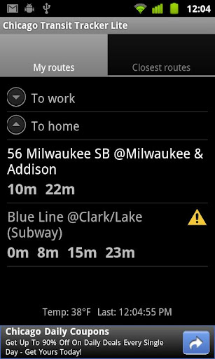 chicago-transit-tracker-lite for android screenshot