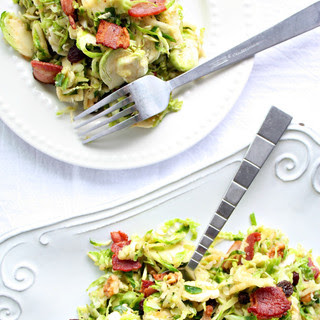 Basil Cider Brussels & Bacon Salad