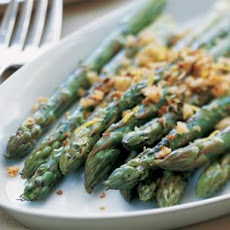 Roasted Asparagus with Toasted Bread Crumbs