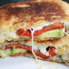 The Ultimate Grilled Cheese Sandwich w/Avocado, Red Peppers & Bacon{CCC}