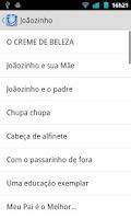 Screenshot of Piadas para celular