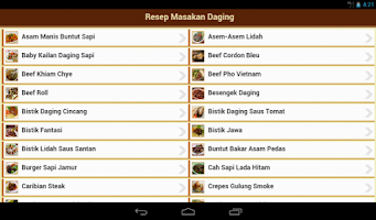 Screenshot of Resep Daging