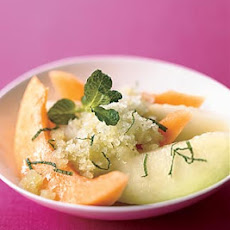Summer Melon with Basil-Mint Granita
