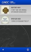Screenshot of NGC Coin Details