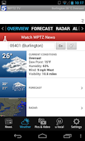 Screenshot of WPTZ NewsChannel 5, weather