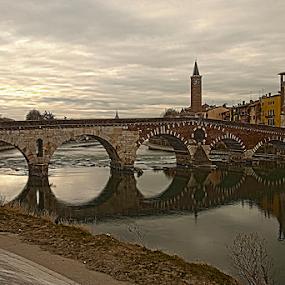 bridge by Giancarlo Ferraro - Buildings & Architecture Bridges & Suspended Structures ( old, hdr, bridge, roman, river )