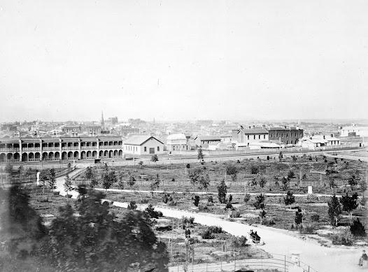 Flagstaff Gardens, 1866. C Nettleton
