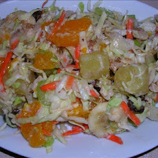Tropical Fruit and Nut Coleslaw