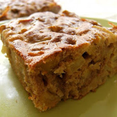 A Healthier Apple Nut Snack Cake
