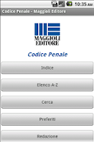Screenshot of Codice Penale