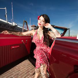 Cara Mia by Tye Kilo - People Body Art/Tattoos ( lowrider, automotive, lowriding, pinup, classic )