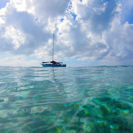 pefect day by Jay Anderson - Transportation Boats ( water, vacation, sky, swim, cloud, sea, sail, boat, bahamas, nassau,  )