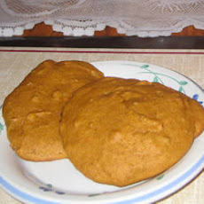 Pumpkin Walnut and Raisin Cookies