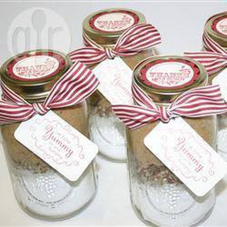 Coconut Blondies in a Jar