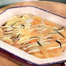 White Asparagus with Orange Butter