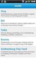 Screenshot of Cityguide Gothenburg