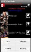 Screenshot of Spartacus Soundboard