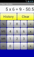 Screenshot of A Basic Calculator
