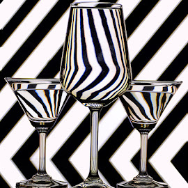 Zebra stripes by Rakesh Syal - Artistic Objects Glass