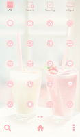 Screenshot of strawberry vanilla dodol theme