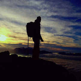sunset on top by Dori Ta - Sports & Fitness Climbing (  )