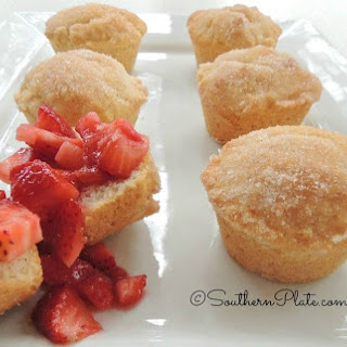 French Breakfast Puffs with Fresh Strawberries