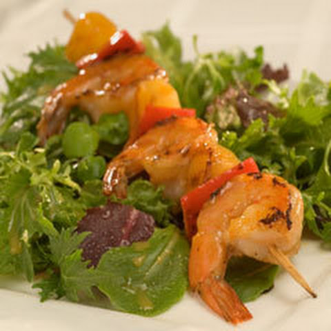 Grilled Shrimp & Pepper Skewers