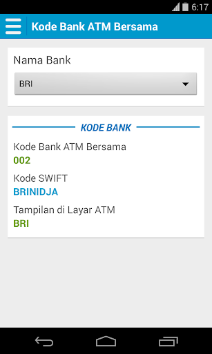 kode-atm-bersama for android screenshot