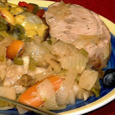 Crock Pot Pork and Cabbage Dinner