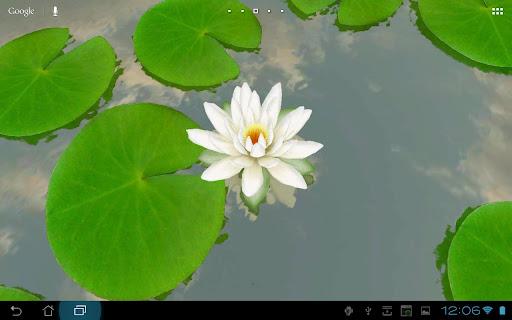 3D Lotus Live Wallpaper Free