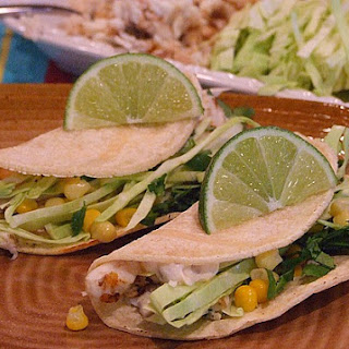 Fish Tacos w/ Chipotle Cream