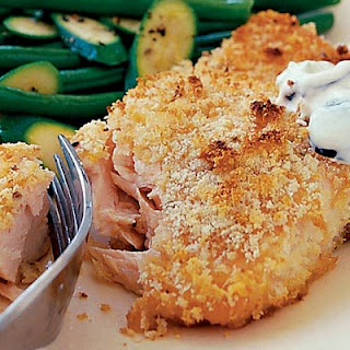 Lemon Crusted Salmon With Herby New Potatoes & Green Beans