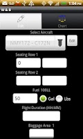 Screenshot of Aircraft Weight and Balance