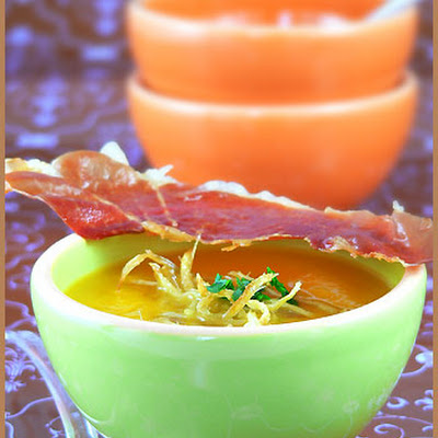 Pumpkin Soup with Crystallized Ginger