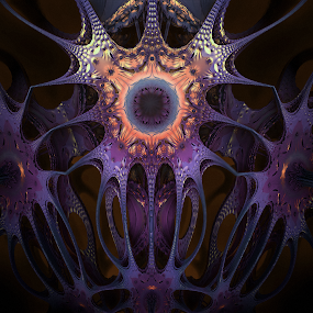 t-tree by Caƶ Dickson - Illustration Abstract & Patterns ( abstract, nemitode, mandelbulb, triffid, fractal )