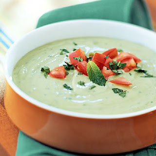 Chilled Avocado and Mint Soup